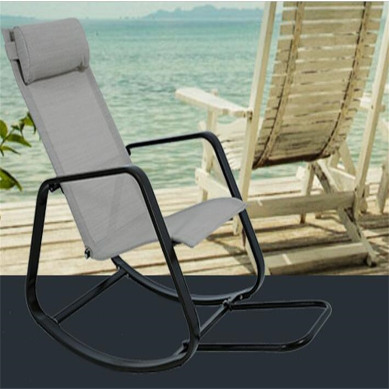 Garden Elderly Chaise Lounge Balcony Courtyard Rocking Chair Outdoor Swing Sun Lounger Leisure Beach Lazy Chair