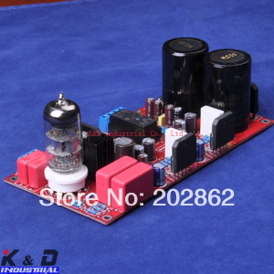 ФОТО 1pc/lot 6N11+LM3886 HIFI Tube Amp Kit Board W Speaker Protect