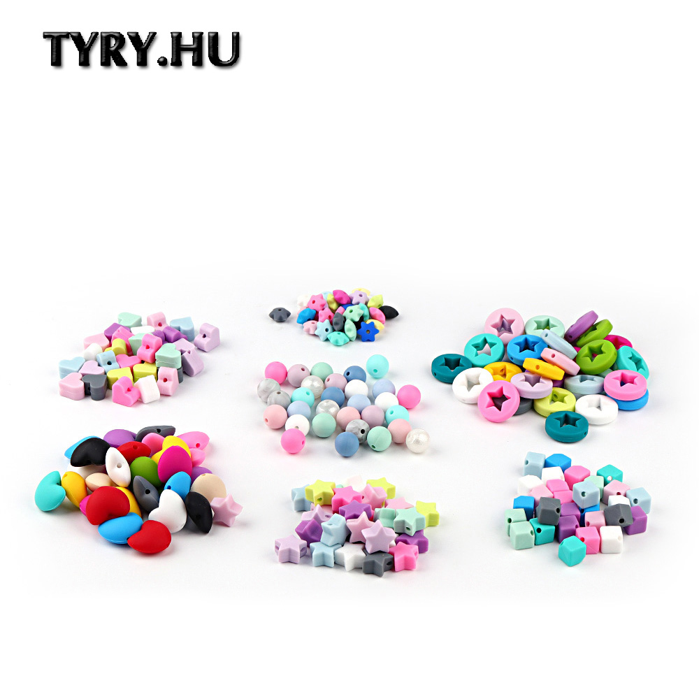 TYRY.HU 20PCS/lot Silicone Beads DIY Pacifier Chain Teething Beads Baby Silicone Teether Chewing Teether Care Tooth BPA Free