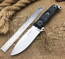 Newest BUSSE Tactical Knife D2 Stonewashed Fixed Blade Knives G10 Handle Multi Camping Hunting Survival Knife Outdoor Tools