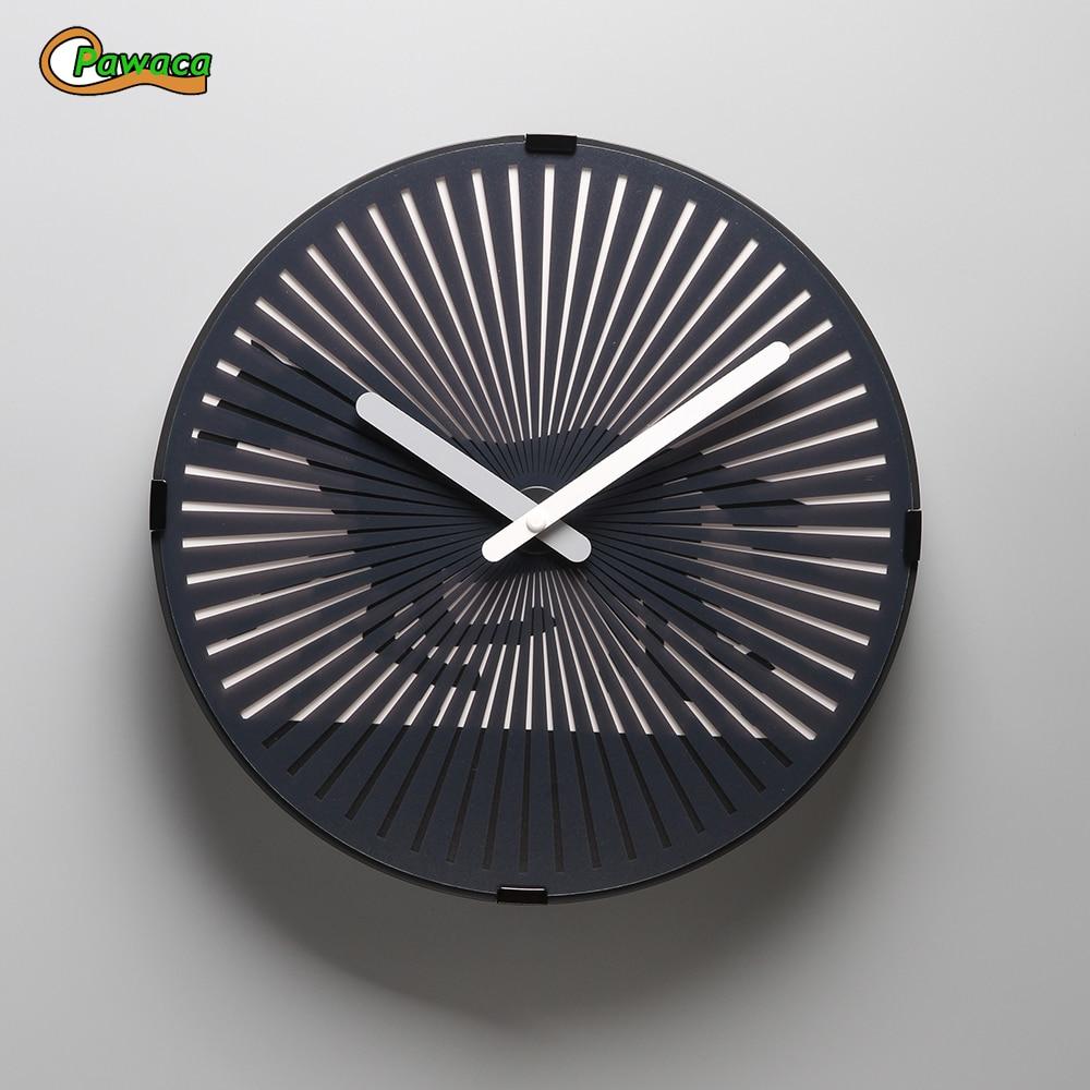 Battement coeur/Runnig cheval/marche homme magique fantôme horloge murale Animation dynamique salon horloges murales plastique + PVC