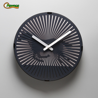 Beating Heart/ Runnig Horse/Walking Man Magical Phantom Wall Clock Dynamic Animation Living Room Wall Clocks Plastic + PVC