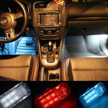 Car LED  foot lights for VW CC Sagitar  magotan Tiguan  Touran Golf 6  foot nest lamp shining floor lamp with shell