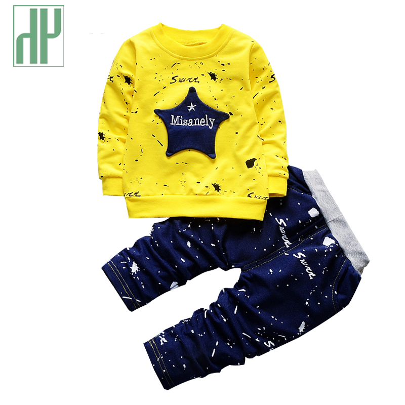 Spring Kids Clothes Set Star printing hip hop costume children's clothing Full Length Cotton Casual toddler boys clothing