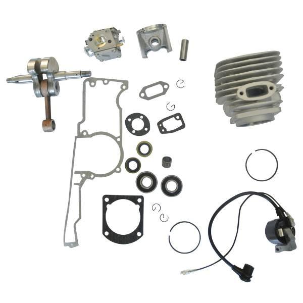 Cylinder Oil Seals Crankshaft Carburetor Ignition Coil Kit For 268  Chainsaw 38mm cylinder barrel piston kit