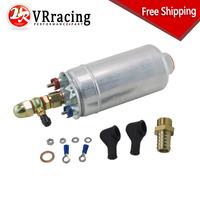 VR RACING FREE SHIP External Fuel Pump 0580 254 044 FUEL PUMP WITH BANJO FITTING KIT HOSE ADAPTOR UNION 8MM OUTLET TAIL