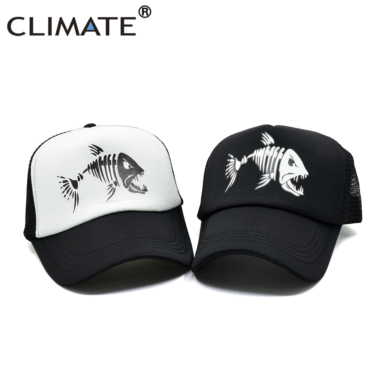 Bone Caps  Hat Cool Youth Men Mesh Trucker  Baseball Fishbone Hip  Fish Cap NEW