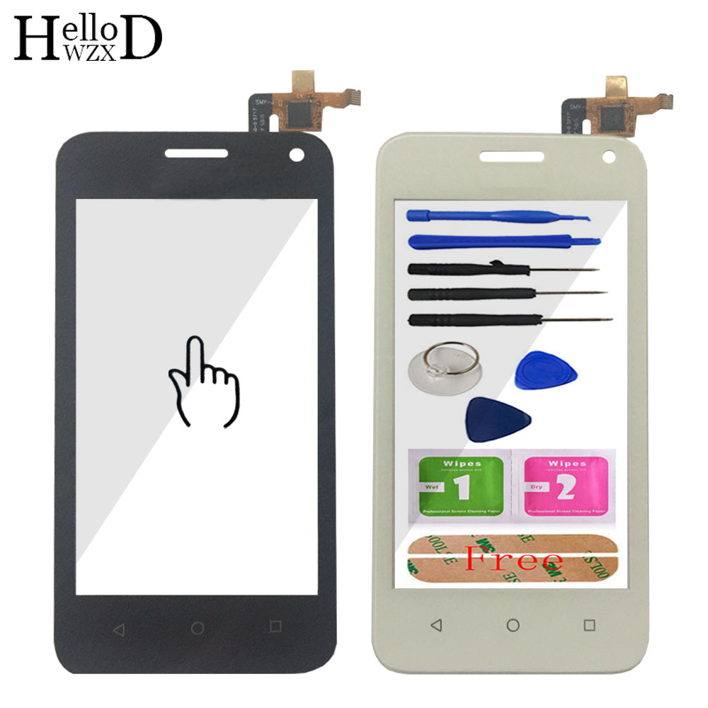 Front Touch Screen Digitizer Outer Glass Lens For Huawei Y360 Y3 Y360-CL00 Y360-U03 Y360-U23 Y360-U3 Touch Panel + Free Adhesive