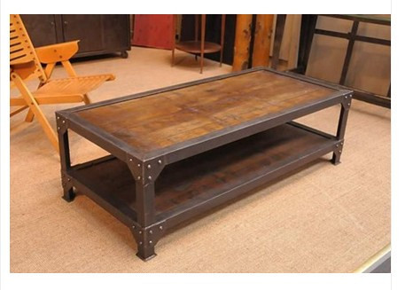 rtro bois de pays damrique forg table basse de fer salon table basse