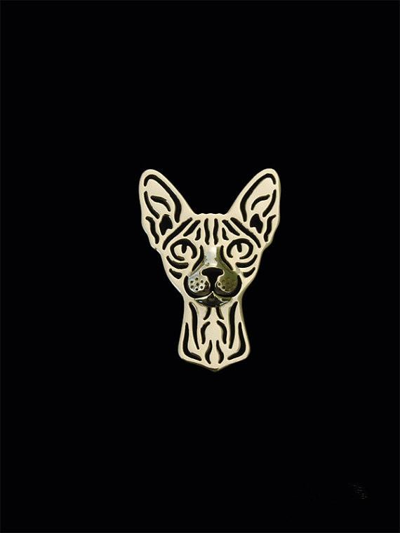 """Nauja madinga """"Sphynx"""" katės sagė, skirta naminių brošiūrų bižuterijai"""
