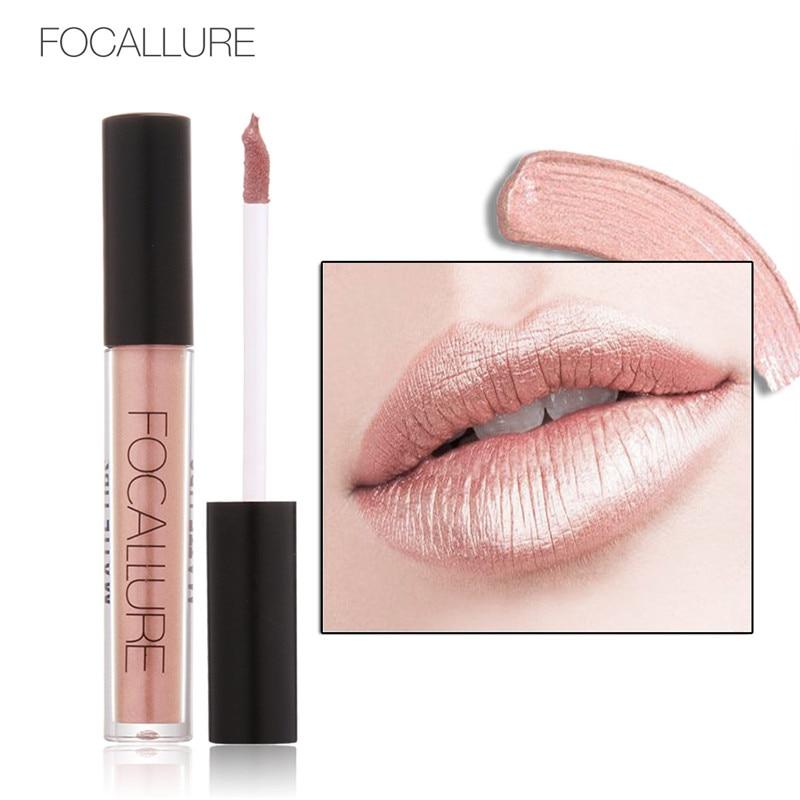 Metallic Pearlescent Non Fading Lip Color Matte Face Long Lasting Liquid Lipstick Gold Lipstick Metal Color Lip Makeup 2017 new