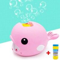 Automatic Cartoon Whale Shape Soap Bubbles Blowing Toys For Children Bubble Machine Maker Kids Toys Wedding Bubbles