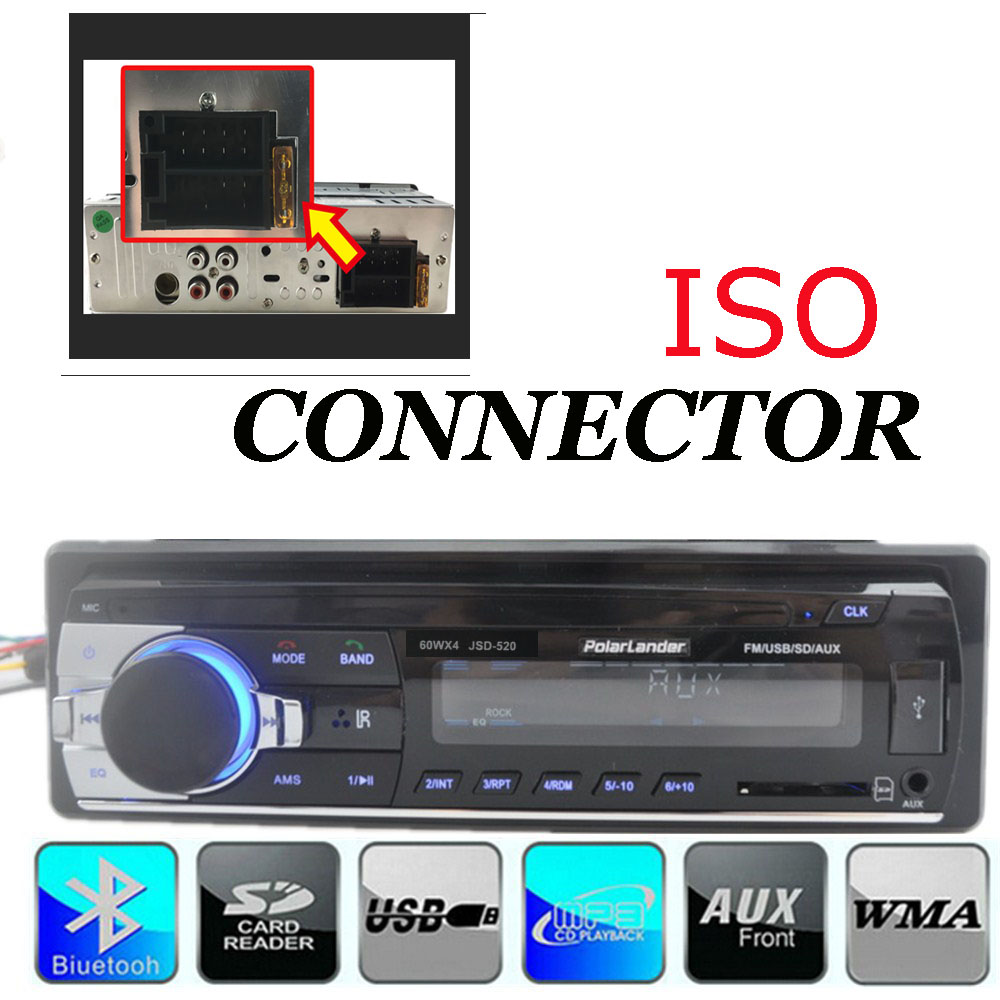 new arrival 12V 1 one single din Car Stereo remote control FM font b Radio b