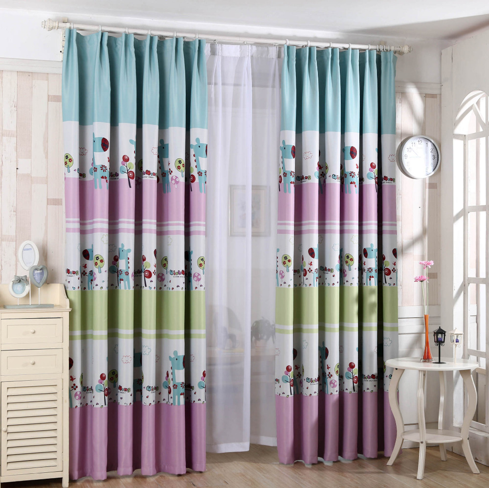 US $12.77 |The new Children\'s printed curtains bedroom curtains fabric  kawaii Giraffe-in Curtains from Home & Garden on Aliexpress.com | Alibaba  Group