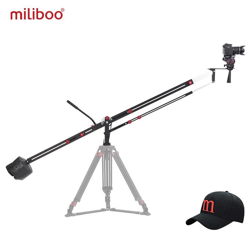 Miliboo MYB501 3.1 m caméra en aluminium grue potence bras pliable Extanble Compact 75mm et 65mm taille du bol pour appareil photo DSLR charge 8 kg