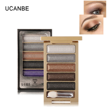 Professional Diamond Eyeshadow 5 Colors Glitter Pigment Shimmer Eye Shadow Palette Maquiagem Kit with Brush Beauty