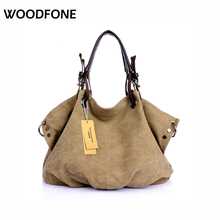 2016 Hot Sell High Quality Canvas Women Handbag Casual Large Capacity Hobos Bag  Female Totes  Trapeze Ruched Solid Shoulder Bag