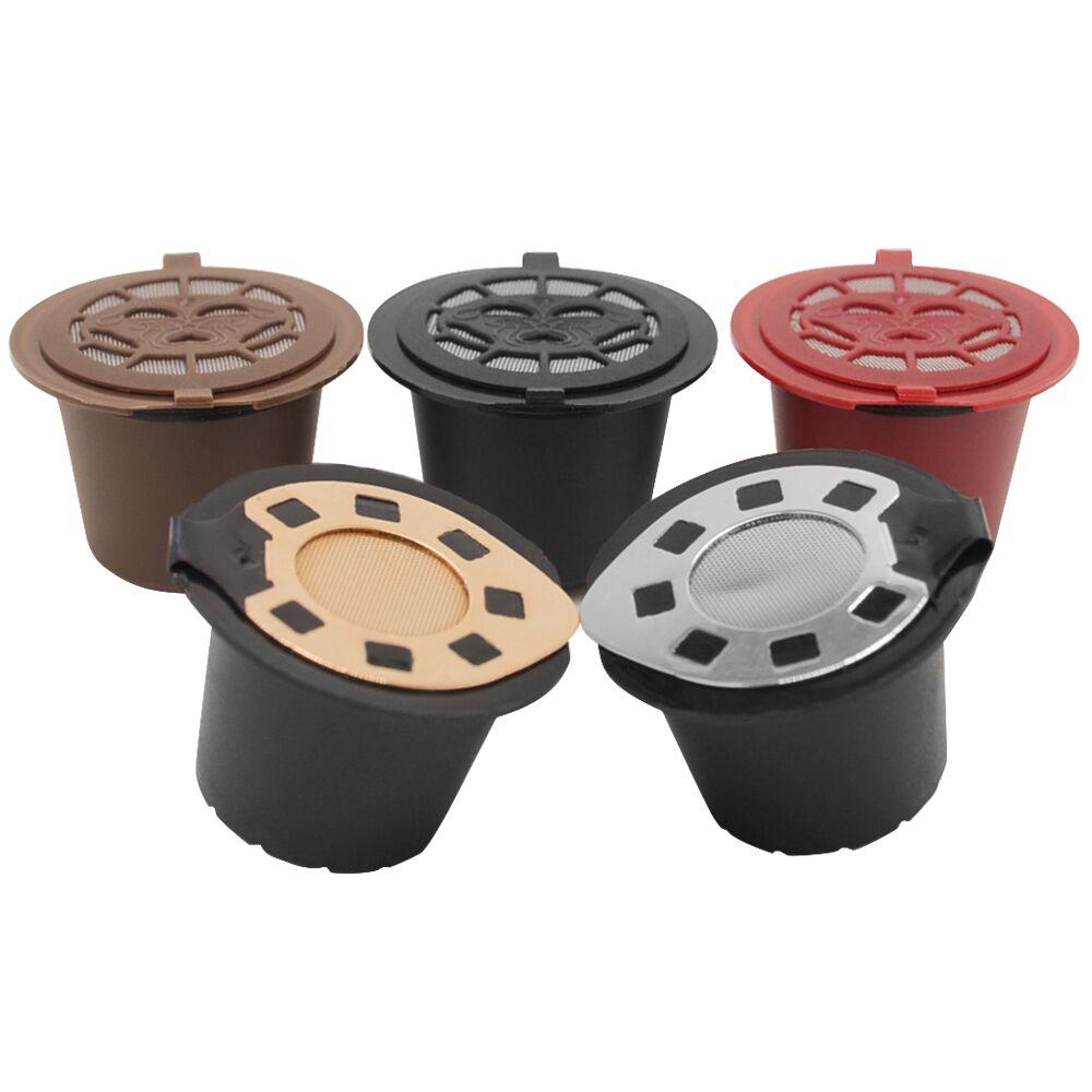 Wiederverwendbare Nespress Gold-mehrweg Nespresso kaffee Kapseln (2-pack) | Kompatibel mit Refilterable Essenza,...