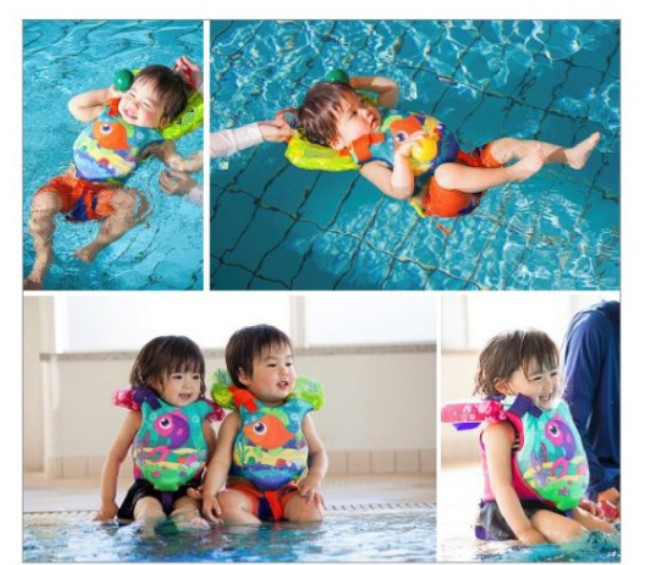 owlwin new baby life vest life jacket high quality baby swim jacket baby swimming vest children kids water sports foam life jacket learn swimming arm rings age 2 8
