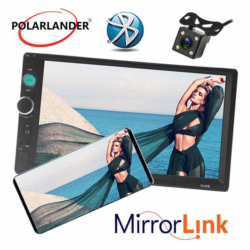 7 polegada MP5 radio cassete player Do Carro HD Tela de Toque Do Bluetooth Handsfree TFT Car Autoradio FM USB TF AUX EM 2 DIN Ligação Espelho
