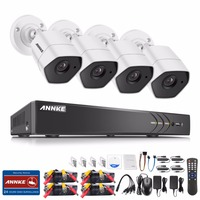 ANNKE Full HD 4CH AHD 3MP Home Outdoor CCTV System Kit 4 Channel 1920 1536 Surveillance