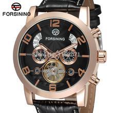 FSG165M3G2 Бесплатная доставка! новое прибытие мужчины Автоматическая бизнес роскошные часы с черным кожаный ремешок подарочной коробке оптовая продажа