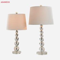 Modna luksusowa kryształowa lampa stołowa proste nocne lampki nocne lampy do sypialni salon światła dekoracyjne