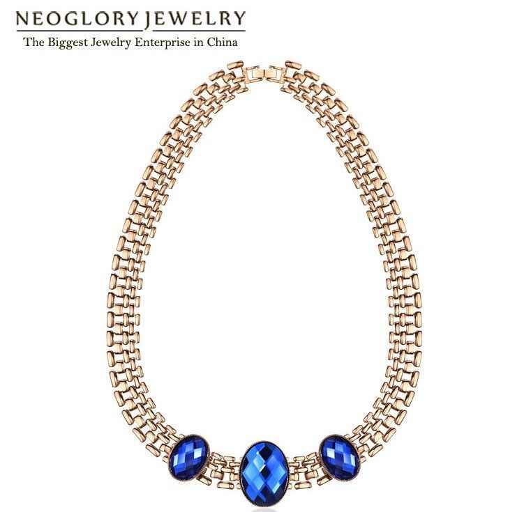 Neoglory Crystal Zinc Alloy Chunky Punk Chain Necklaces Chokers Statement Indian Custom Jewelry 2018 Fashion Birthday Gift  QC4