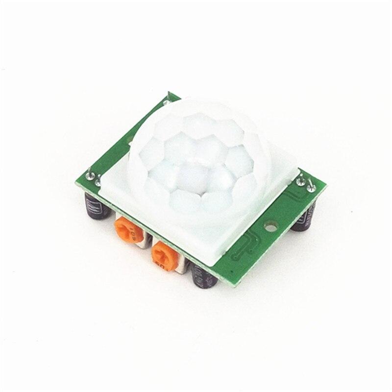 10 teile/los SR501 HC-SR501 Einstellen IR Pyroelektrische Infrarot PIR Module Motion Sensor Detektor Modul Für Arduino