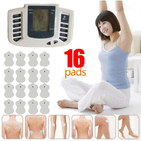 Health Care New Electrical Stimulator JR-309  Full Body Relax Muscle Massager,Pulse tens Acupuncture with therapy slipper+16pads electric stimulator full body relax muscle therapy massager pulse tens acupuncture foot neck back massage slimming slipper 8 pad