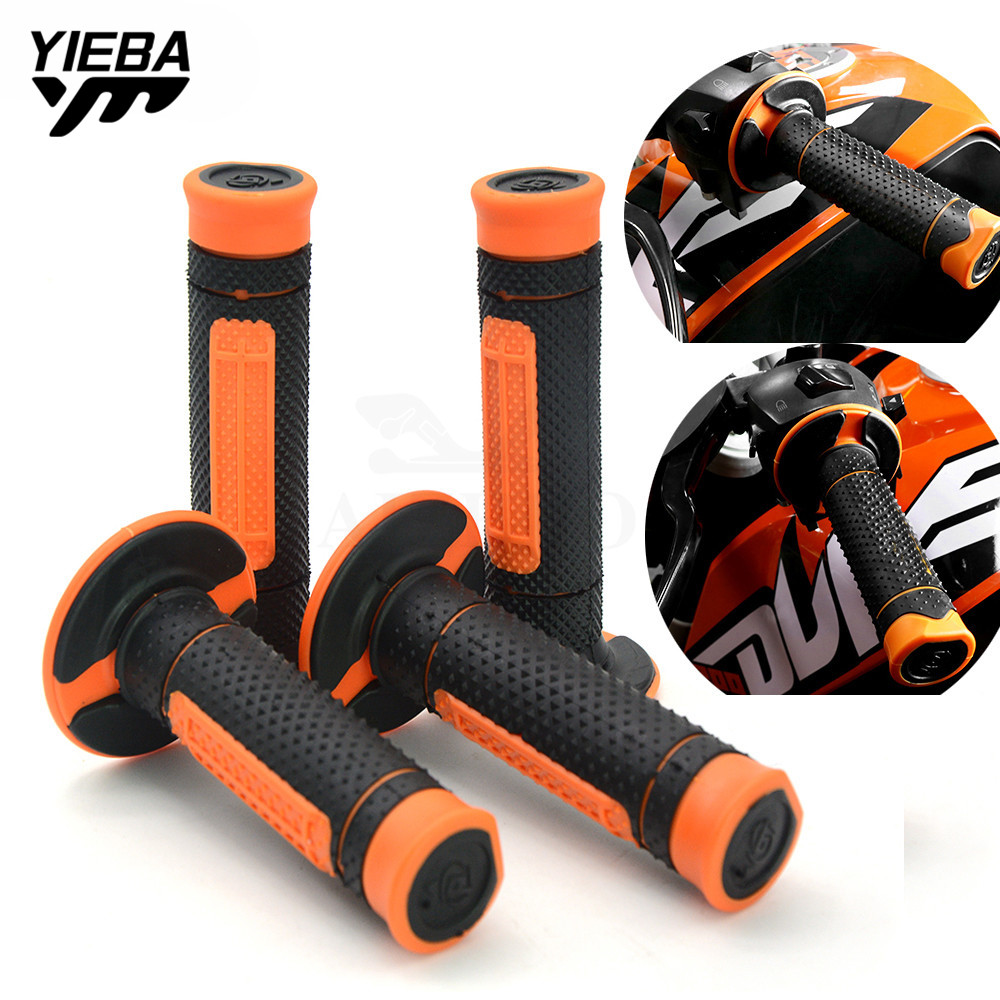 22MM Motorcycle Hand Grips Handle Rubber Bar Gel Grip FOR KTM exc-f 250 07-10 81M 250XC-W/XCF-W/SX 250EXC/EXC-R/EXC-F 14-16