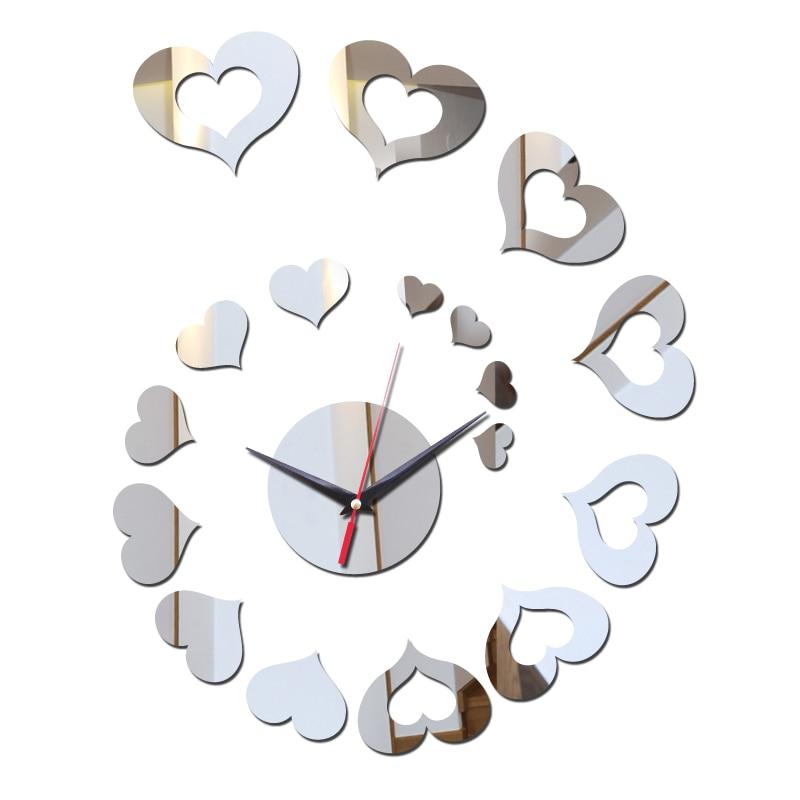 870a8dbe266c2a Zegarek plastikowy Zegar zegary ścienne DIY Reloj De Pared Horloge Naklejki  Zegarek Kwarcowy Balkon/dziedziniec Nowoczesne 3d Akrylowe