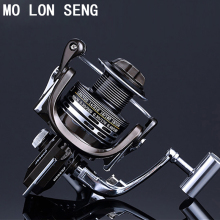 MOLONSENG Metals No Gap 1000-7000 Series 13+1BB Carp Fishing Spinning Reel High Speed 5.2:1 Spinning Fishing Reel Tackle Reels бинокль veber classic бпшц 8х40 vl