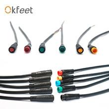 Okfeet Julet 2pin3pin4pin5pin6pinводонепроницаемый Кабельный соединитель для Ebike светильник дроссельной заслонки Ebrake дисплей детали для электровелосипеда удлиняющий кабель