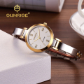 SUNRISE Fashion Ladies Luxury Watches Quartz-Watches Women Analog Gold Diamond Bracelet Dress Wrist Watch SL712 relogio feminino