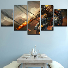 Canvas Painting Cuadros Modular Picture Poster 5 Panel Cartoon Game Characters Wall For Living Room Nordic Decoration New Art
