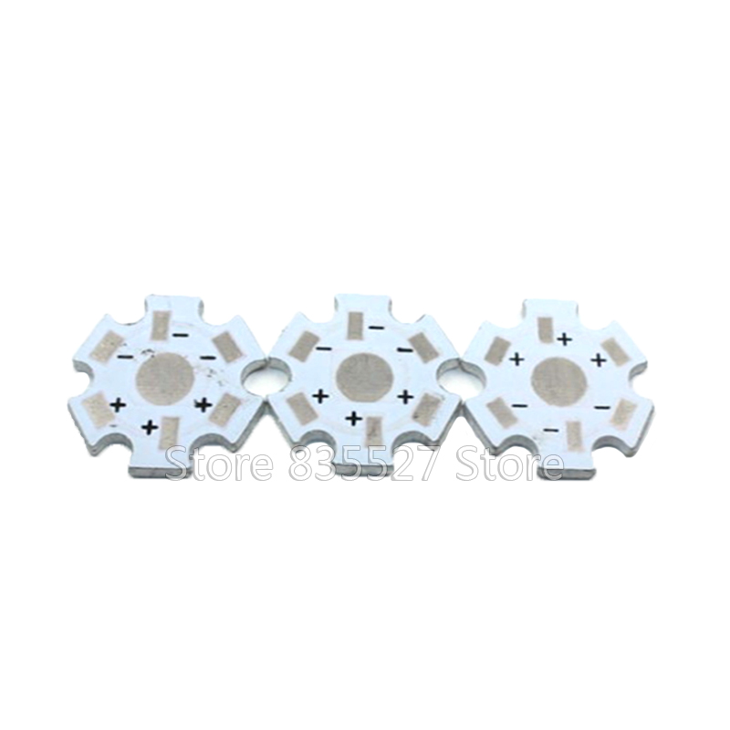50pcs//lot 1W 3W High Power LED Heatsink Heat Sink Aluminum Base Plate