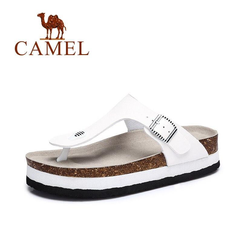 CAMEL 2018 Summer New Women Casual Outdoor Sandals Fashion PVC Flip Flops Eva Soft Slip On Med FLat Sandals Ladies Slippers цена 2017