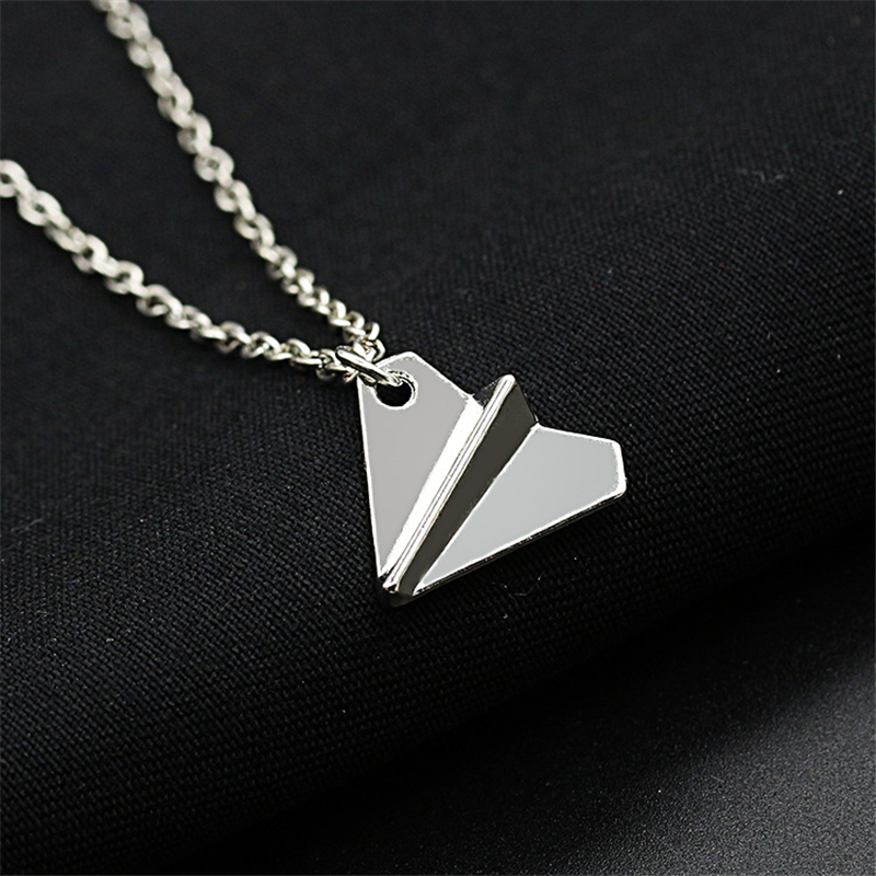 RONGQING Fashion Cute one direction Origami Plane Necklace Paper Airplane Pendant Necklace for Women