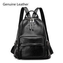 купить Brand Style Leather School Backpack Bag For College Simple Design women Casual Daypacks Fashion Vintage по цене 2064.66 рублей