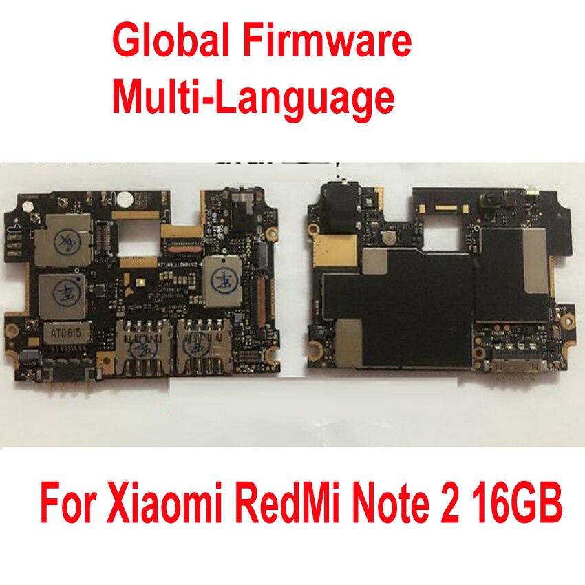 Global Firmware Original Unlock Work Mainboard For Xiaomi Hongmi Redmi Note 2 Note2 WCDMA Motherboard fee