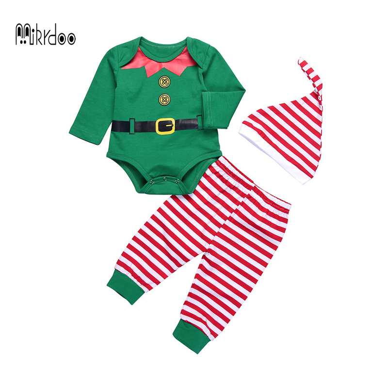 204632462296 Best buy 2017 Christmas Baby Boy Girl Outfits Clothes Set Romper Tops Long  Sleeve Pants Leggings Baby Boys Clothing winter sport suit online cheap