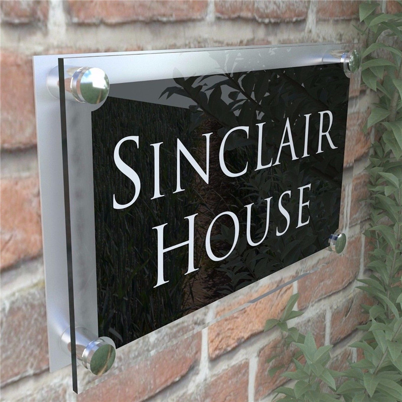 Large Contemporary House Sign Plaques Door Number 1 999 Address door numbers