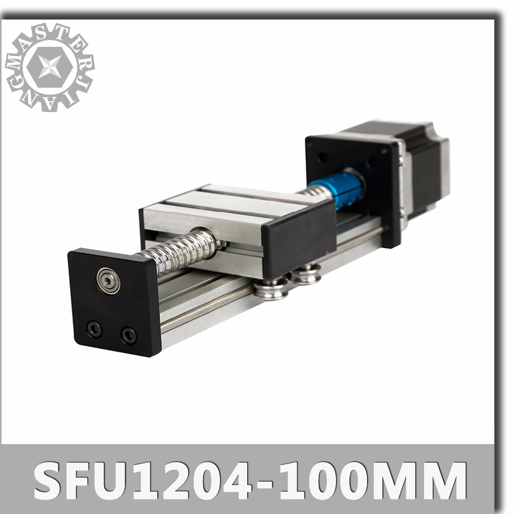 Stage C SFU1204 100mm Linear Guide Rails Linear Actuator System Module Table Ball Screw 100mm Travel