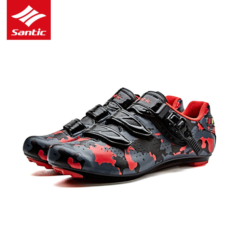 Santic 2018 Men Pro Road Cycling Shoes PU Breathable Road Bike Shoes Auto-locking Athletic Racing Bicycle Shoes Cycling Equipme free shipping breathable athletic cycling shoes road bike bicycle shoes nylon tpu soles for road racing mtb eur35 39 us3 5 7