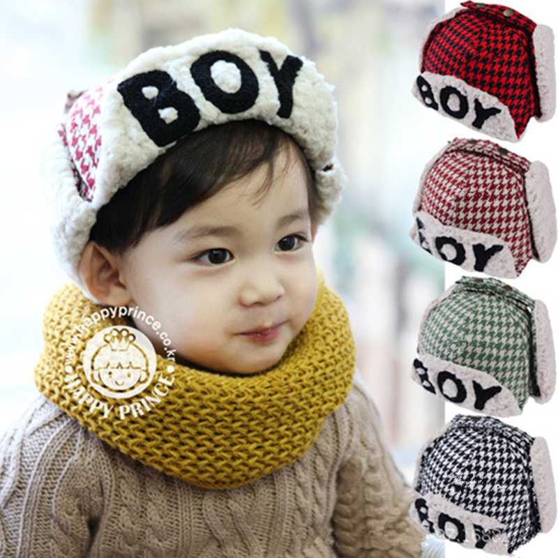 Children Winter Warm Thicken Knitter Fleece Bomber Hats Kids Cap Ushanka  Aviation Baby Hat Boy Girl ... 1f63ee8be18