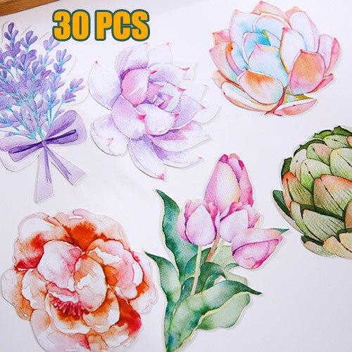 30 Pcs Pack Beautiful Flowers Greeting Card Postcard Birthday Gift