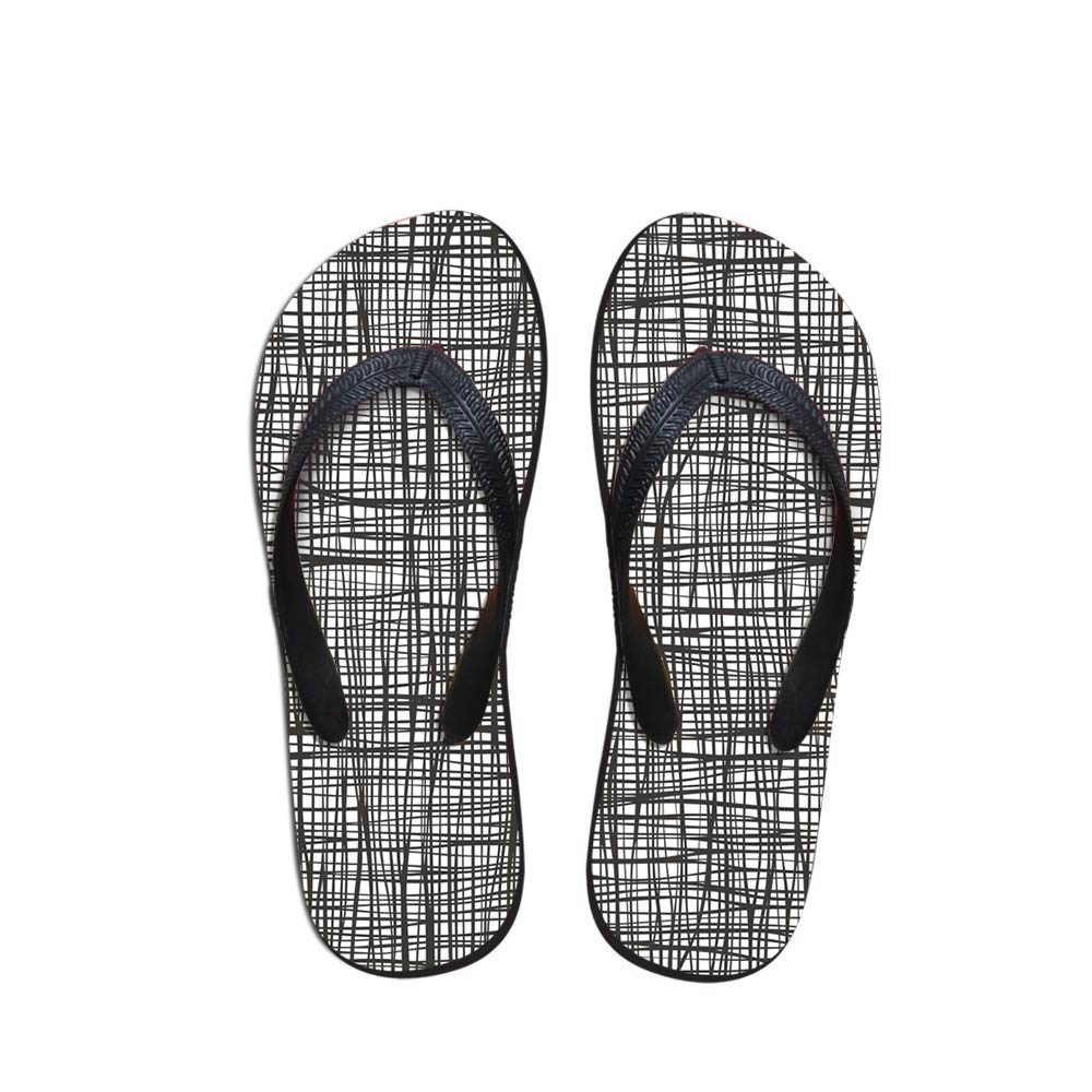 Outdoor Men's Flip Flops Beach Shoes Outside Sandals Flops Sandals Man Summer Daily Wear Geometric Pattern Flop