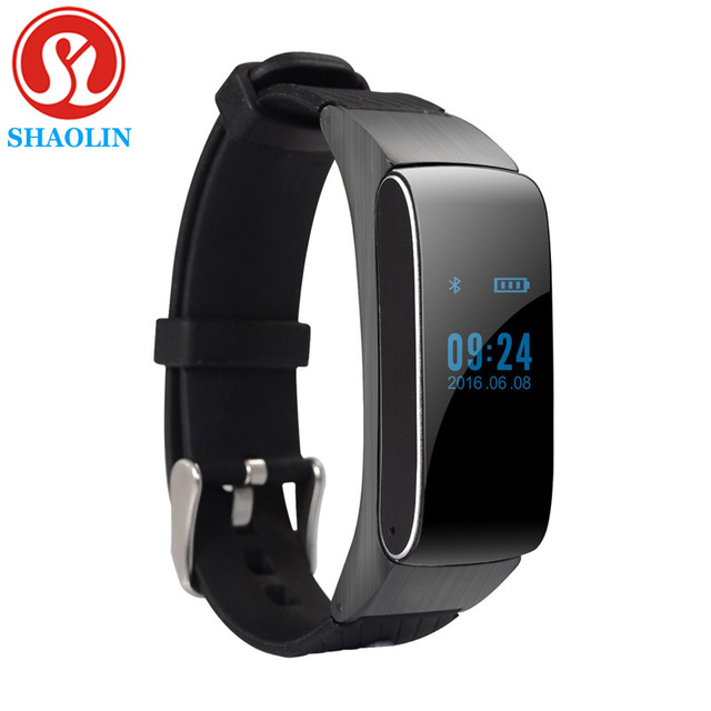 SHAOLIN Bluetooth headset Smart Band Talkband Smart Bracelet Pedometer Activity Fitness Tracker for IOS Android Smartband