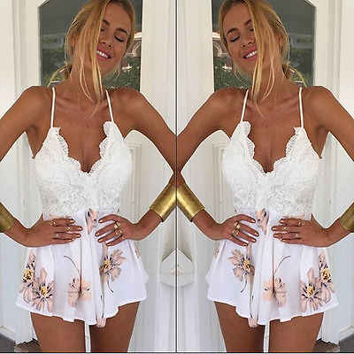 נשים גבירותיי Clubwear V צוואר המפלגה Bodycon Playsuit סרבל & Romper מכנסיים גודל S-XL
